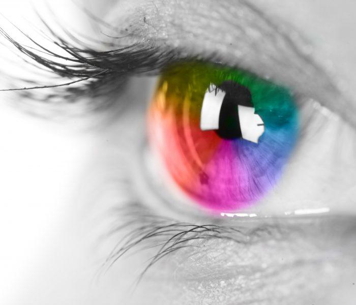 Harmonie der Farben. Welche Farbe betont Ihre Augen?